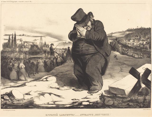 Honoré Daumier, 'Enfoncé Lafayette!... Attrappe mon vieux!', 1834, National Gallery of Art, Washington, D.C.