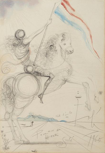 Salvador Dalí, 'Cavalier à l'étendard', 1965, HELENE BAILLY GALLERY