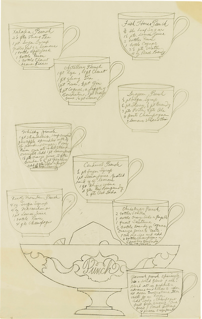 Andy Warhol, 'Punch Recipes', circa 1955, Phillips