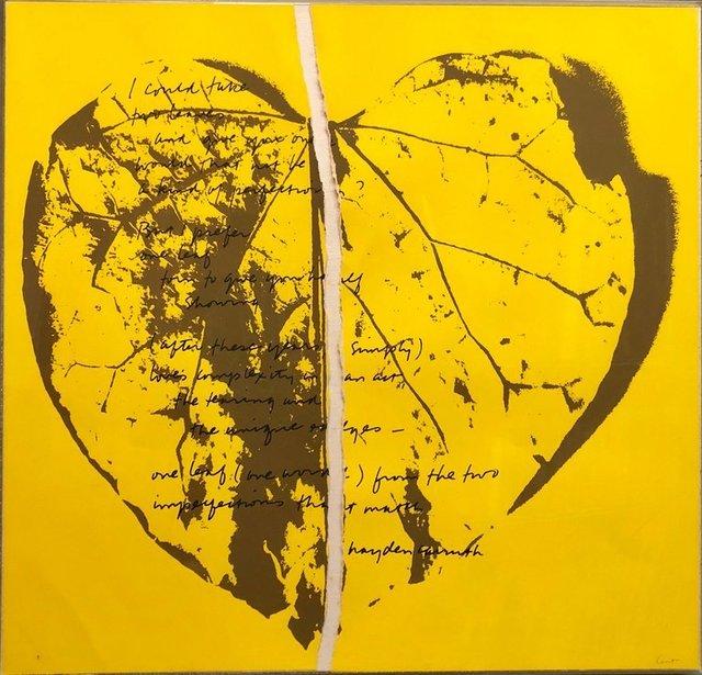 Corita Kent, '1968 Sister Corita Pop Art Silkscreen Lithograph Heart Torn Paper Collage', 1960-1969, Lions Gallery