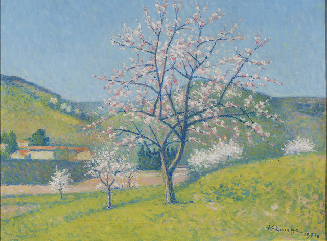 , 'Arbres en Fleur à Alet-les-Bains ,' 1919, M.S. Rau