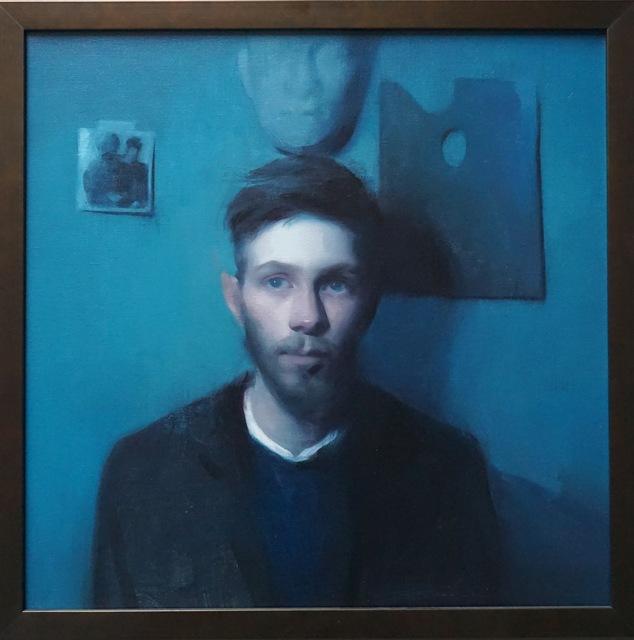 , 'Nils Gustav in Blue,' 2017, Grenning Gallery