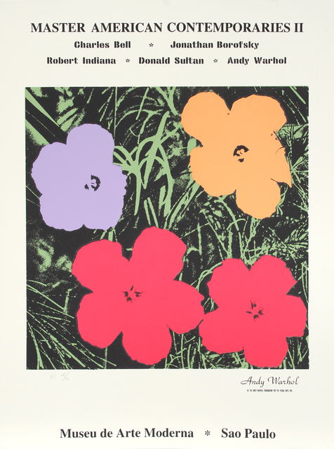Andy Warhol, 'Flowers from Master American Contemporaries II', 1994, RoGallery