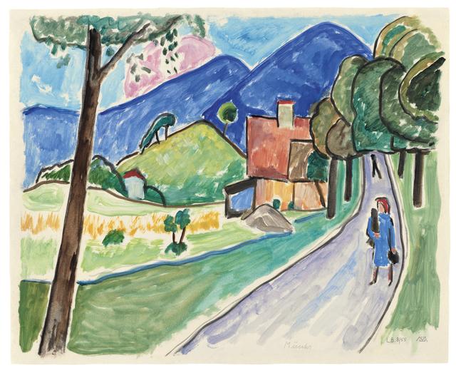 , 'Landschaft bei Murnau,' ca. 1955, Ludorff