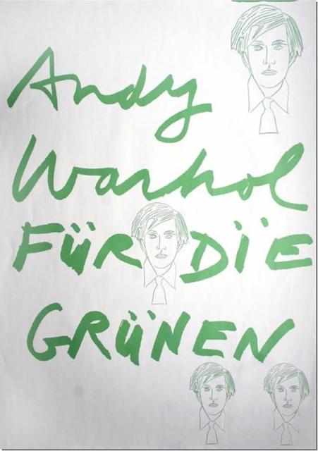 Andy Warhol, 'Andy Warhol fuer die Gruenen', 1979, Cerbera Gallery