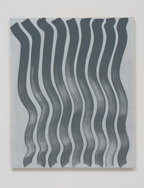 , 'Untitled (Strokes, Grey on White),' 2013, Roberts & Tilton