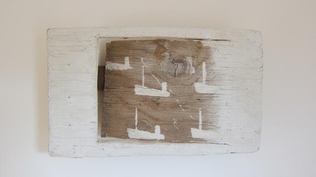 , '5 White Boats,' 1998, Albert Merola Gallery