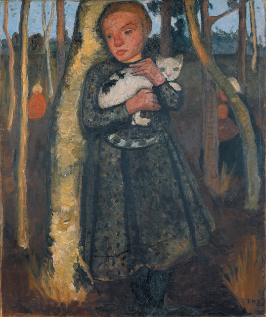 , 'Mädchen im Birkenwald mit Katze (Girl in a Birch Wood with a Cat),' 1904, Louisiana Museum of Modern Art