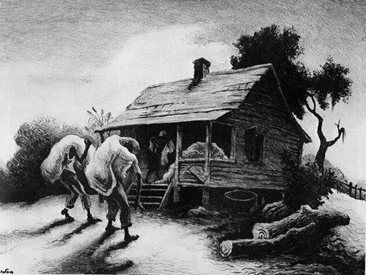 Thomas Hart Benton, 'Back from the Fields', 1945, Kiechel Fine Art