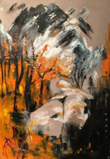 , 'Wild forest fire Mountain Calls for Change ,' 2015, Lotus Art Gallery