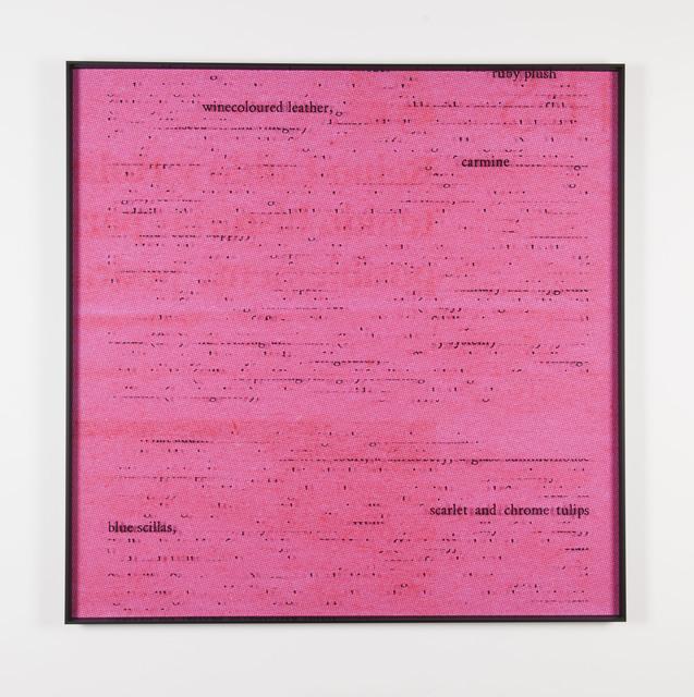 , 'Magenta / Joyce,' 2014, Meessen De Clercq