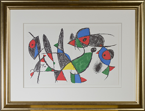 ", 'Original Lithograph IX from ""Miro Lithographs II, Maeght Publisher"",' 1975, David Barnett Gallery"