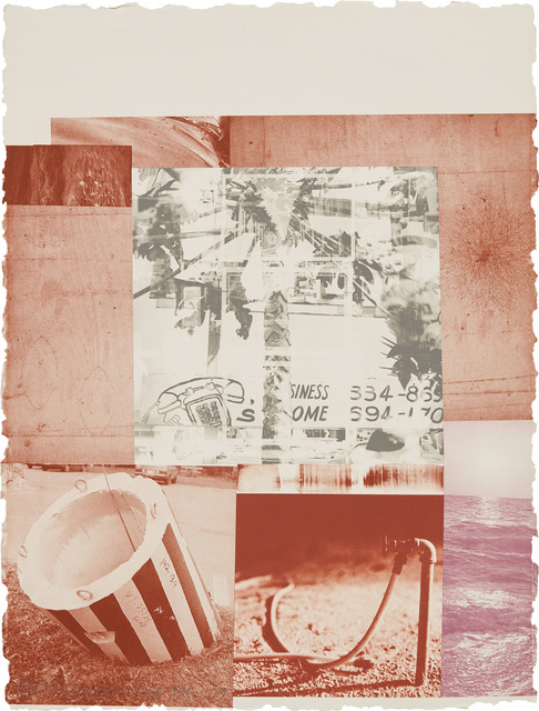 Robert Rauschenberg, 'Gray Gardens, from Rookery Mounds', 1979, Print, Lithograph in colors, on Twinrocker handmade paper, the full sheet, Phillips