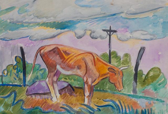 , 'Cow in Landscape,' 1925, WOLFS