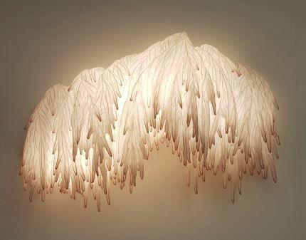 Ayala Serfaty, 'Soma Series: Wisteria Lighted Wall Installation', Israel-2019, Installation, Glass rods, polymer membrane, Maison Gerard