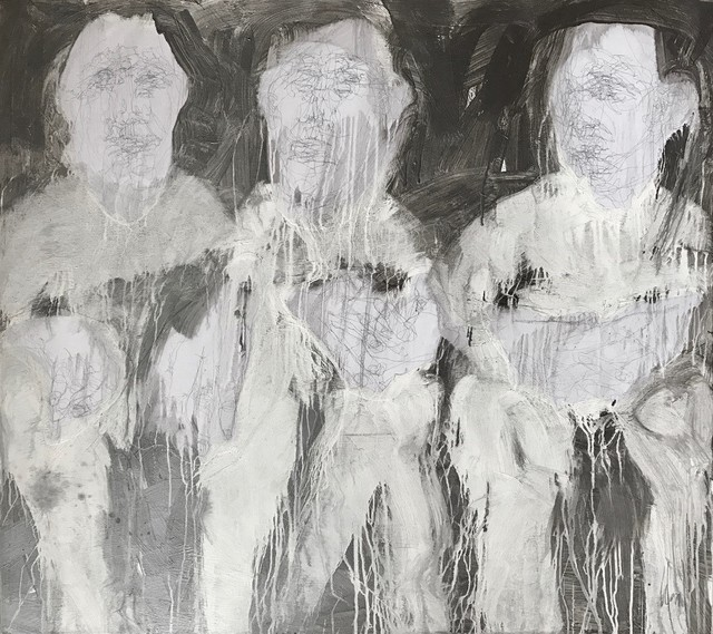 , 'Line Silver Series: Three Seated ,' 2019, ÆRENA Galleries and Gardens