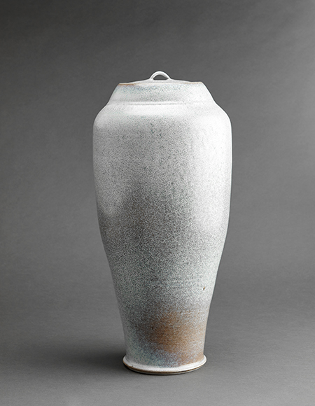 , 'Vase, silver white glaze,' , Pucker Gallery