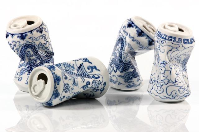 Lei Xue, 'Drinking Tea', 2010, Sculpture, Hand painted porcelain, Coleccion SOLO