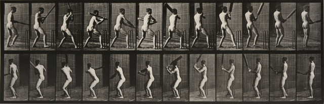 , 'Animal Locomotion: Plate 293 (Nude Man Playing Cricket),' 1887, Beetles + Huxley