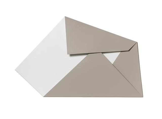 , 'XL Folded Flat White and Chestnut 02,' 2019, Galerie Nikolaus Ruzicska