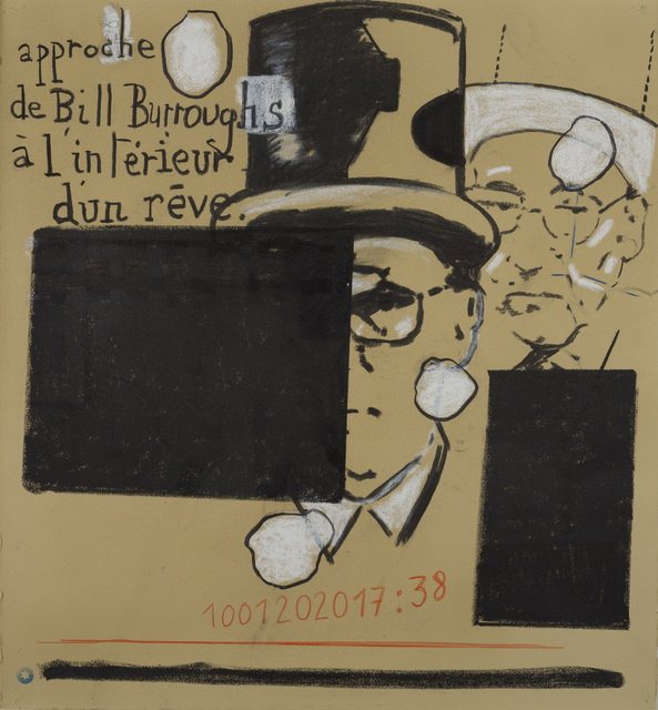 Jean-Michel Alberola, 'Approches Beat-Generation. Paris', 2020, Drawing, Collage or other Work on Paper, Mixed media on cardboard, Loeve&Co