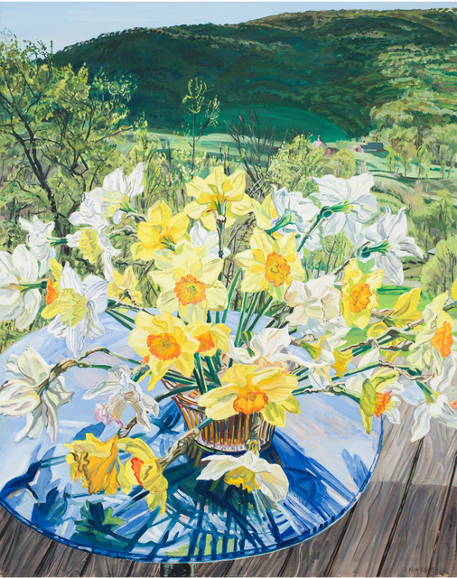 Janet Fish, 'Daffodils & Spring Trees', 1988, DC Moore Gallery