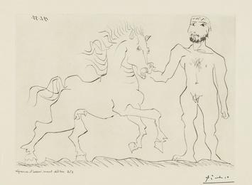 Homme nu debout avec un cheval (B. 304; Ba. 632)