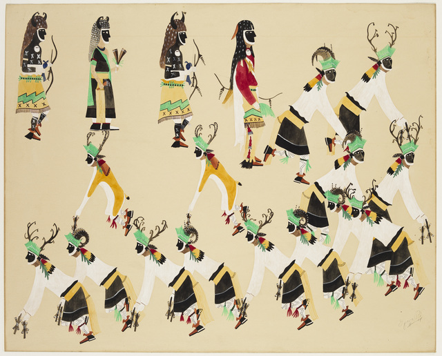 , 'Deer and Buffalo Dance,' 20th Century, Crystal Bridges Museum of American Art