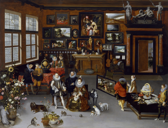 Hieronymus Francken II, 'The Archdukes Albert and Isabella Visiting a Collector's Cabinet,' ca. 1621-1623, Walters Art Museum