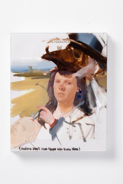 Patrícia Kaliczka, 'Self-Portrait as a Doctor from various Eras --- Önarckép különböző korokból származó orvosként', 2019, Painting, Oil on plastic board || olaj, műanyag lap, VILTIN Gallery