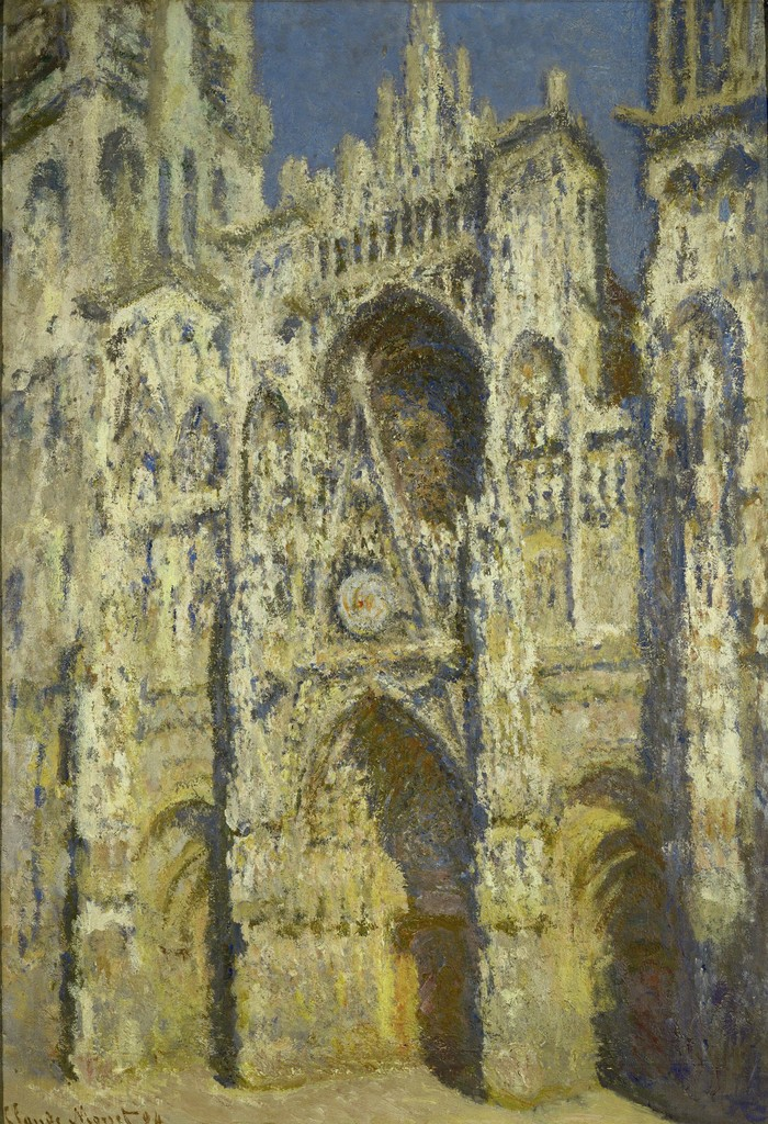 Claude Monet, 'La Cathédrale de Rouen: plein soleil, harmonie bleue et or (Rouen Cathedral, Full Sun, Blue Harmony and Gold),' 1894, Erich Lessing Culture and Fine Arts Archive
