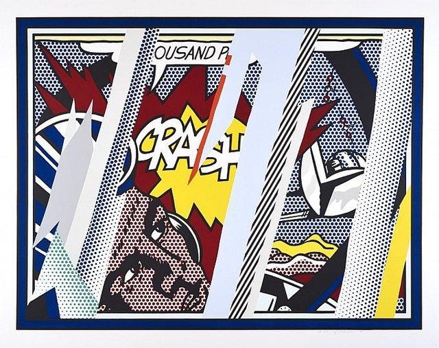 Roy Lichtenstein, 'Reflections  on Crash', 1990, Vertu Fine Art