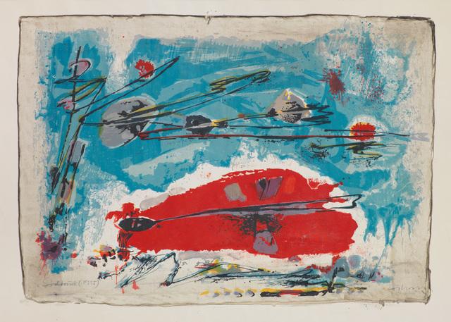, 'ROT LIEGT UNTER BLAU,' 1955, Jörg Maass Kunsthandel