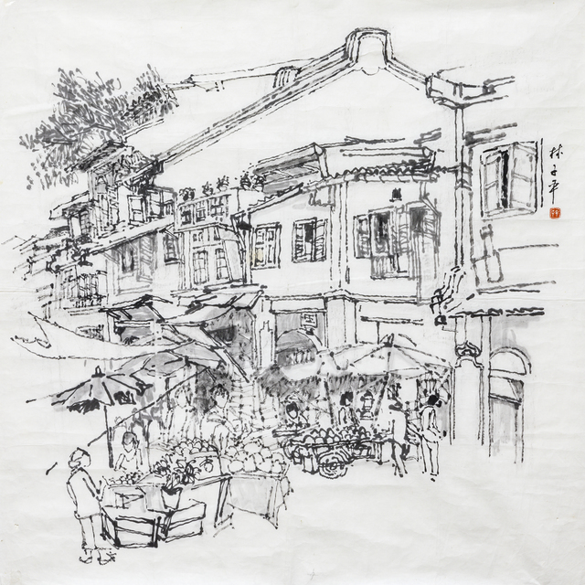Lim Tze Peng, 'Fruit Stores At The Market', 1970-1980s, Ode to Art