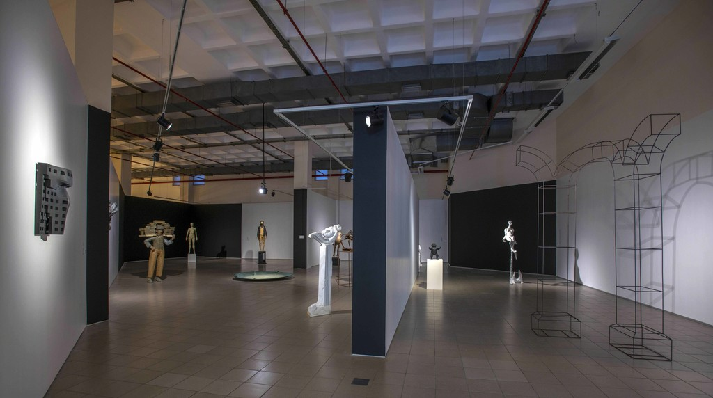 Front, Left to Right: Rahmi Aksungur, FA II, 2014; Çayan Yılmaz, Dream, 2013; Tanzer Arığ, The Back is Actually the Front II, 2011