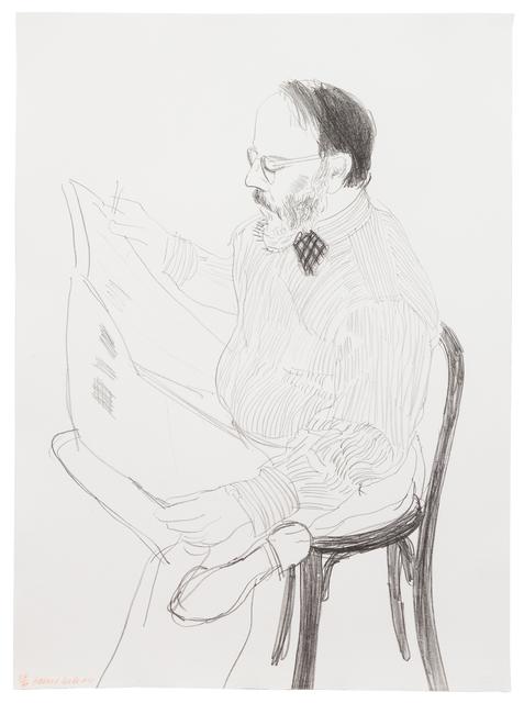 David Hockney, 'Henry Reading the Newspaper from Friends', 1976, Hindman