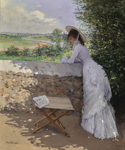 Jean Béraud, 'Un Figaro de rêve', ca. 1875, Painting, Oil on canvas, Gallery 19C