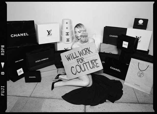 Tyler Shields, 'Will Work for Couture', 2019, Photography, Chromogenic Print on Kodak Endura Luster Paper, Isabella Garrucho Fine Art