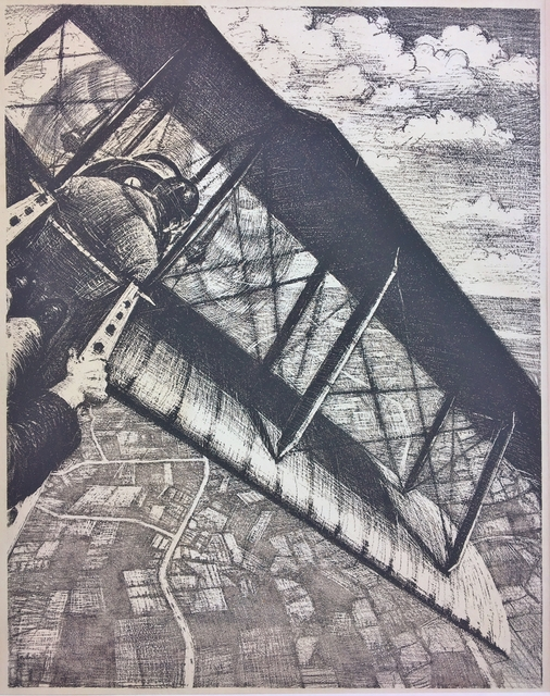 Christopher Richard Wynne Nevinson, 'Banking at 4000 Feet', 1917, Print, Lithograph on wove paper., Catherine E. Burns Fine Prints