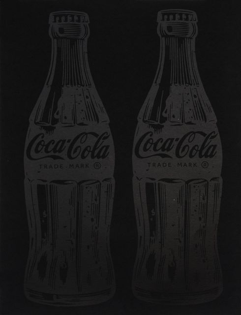 , 'Double Coca-Cola (black on black),' 2017, Samuel Owen Gallery