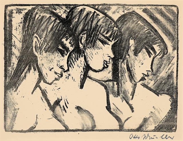 , 'Drei Mädchen im Profil (Three Girls in Profile),' 1921, Galerie Herold
