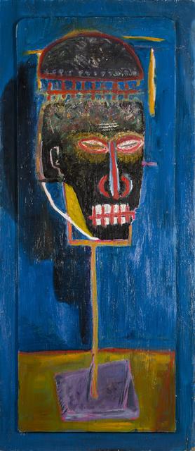 Wulf Treu, 'Master', 2012, Mixed Media, Oil on driftwood, Rudolf Budja Gallery