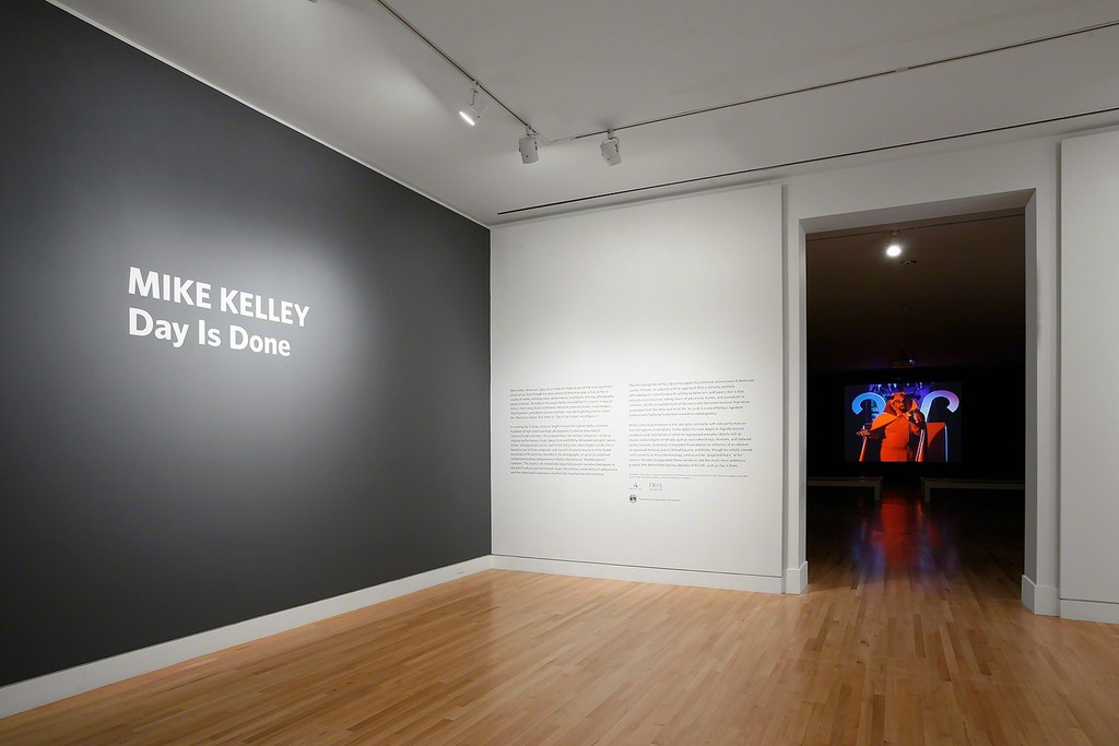 Installation view of Mike Kelley: Day Is Done, September 23–December 31, 2017. Photo: Mark Woods.