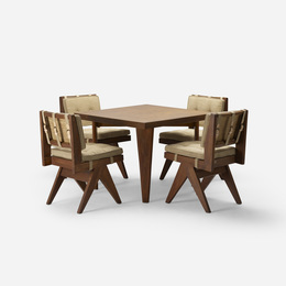cafeteria table and four chairs from Chandigarh