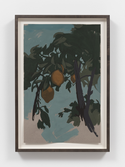 Matthew Benedict, 'Study of a Lemon Tree at Twilight', 2019, Drawing, Collage or other Work on Paper, Gouache on paper, Alexander and Bonin
