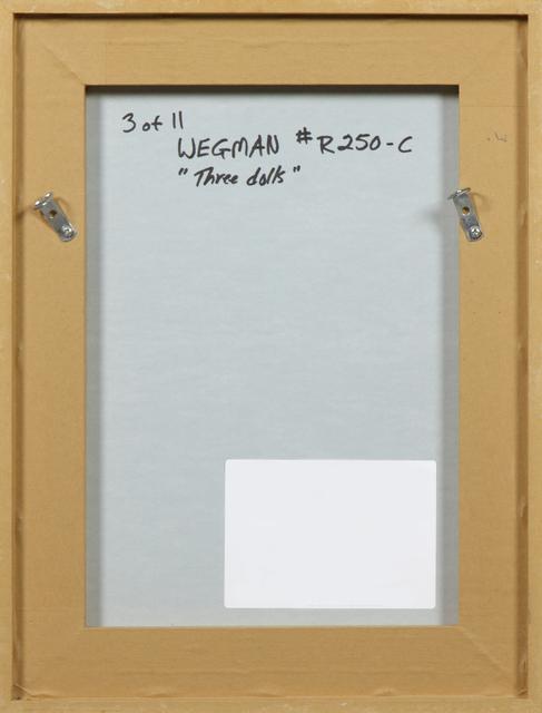 William Wegman, 'Three Dolls (From Man Ray:  A Portfolio of 10 Photographs)', 1982, Photography, Silver gelatin print, Heather James Fine Art