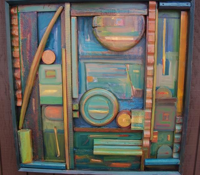 Bill Evans, 'Blue Summer nite', 2010, Sculpture, Acrylic on wood, Keene Arts