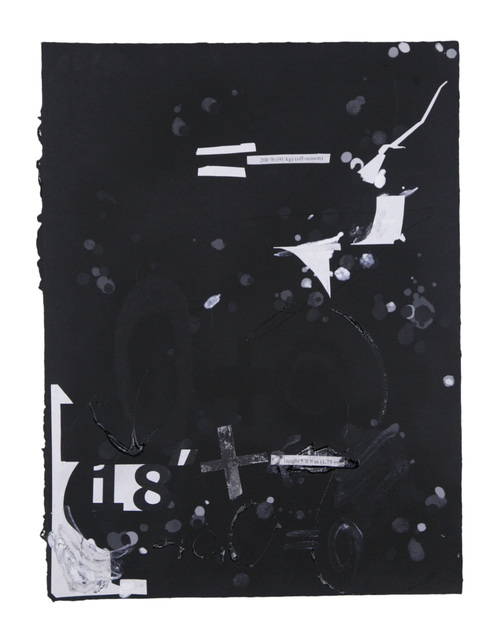 , 'In the Black #4,' 2015, Dieu Donné