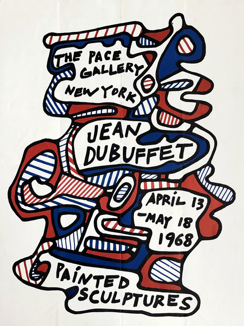 Jean Dubuffet, 'Jean Dubuffet 1968 Painted Sculptures exhibition poster (Pace gallery)', 1968, Lot 180