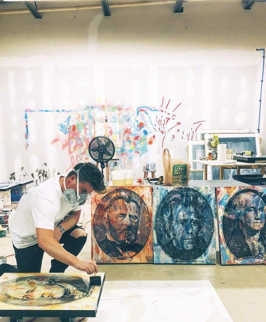 Seek One working on his beautiful art!